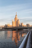 Moscow, high-rise building on Konelnicheskaya Embankment Royalty Free Stock Photography