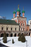 Moscow. Highly Petrovsky Monastery. Temple. Russia, Moscow. Highly Petrovsky Monastery. Temple of Saint Sergius (1694 Stock Photography