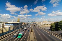 Moscow highway third ring Royalty Free Stock Images