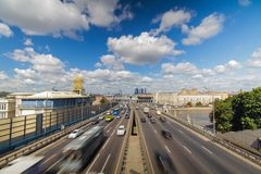 Moscow highway third ring Royalty Free Stock Photos