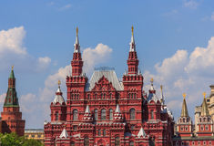 Moscow State Historical Museum on the Red Square. Historical Museum on the Red Square, Moscow, Russia Royalty Free Stock Photography
