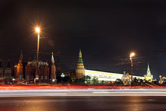 Moscow History museum, Kremlin wall and Arsenal, Angle Arsenal a Royalty Free Stock Photo