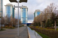 Moscow homes Stock Image