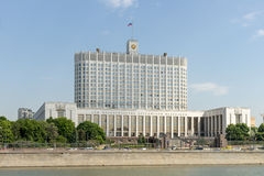 Moscow.  House Government of the Russian Federation Stock Photography