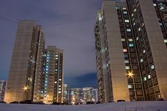 Moscow housing estate Royalty Free Stock Photo