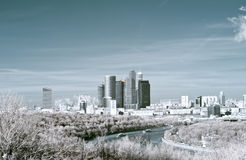 Moscow. Infra-red image stock photo