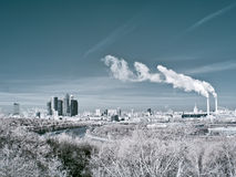 Moscow. Infrared image Royalty Free Stock Photo