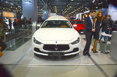 Moscow International Automobile Salon Maserati Chibli S Q4 Desire Royalty Free Stock Images