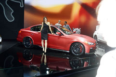 Moscow International Automobile Salon Women Desire Royalty Free Stock Images