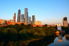 Moscow International Business Center. The Moscow City jine 2016 royalty free stock photography