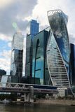 Moscow City business center, Russia. Moscow International Business Center is a commercial district in central Moscow, Russia Stock Image