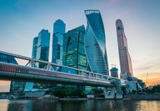 Moscow International Business Center in Moscow, Russia. stock images