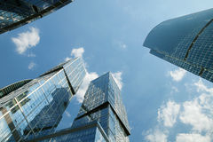 The Moscow International Business Center (MIBC). City of Capitals and Naberezhnaya Tower Stock Photography