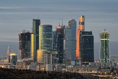 Moscow International Business Center - Moscow-City Stock Photo