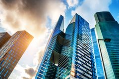 Moscow International business center in Russia stock photography
