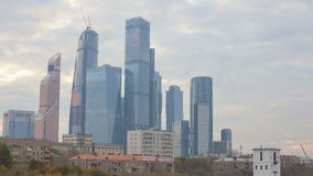 Moscow international business center stock video footage