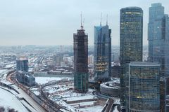 Moscow international business centre Royalty Free Stock Images