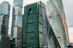 The `City of capitals`, the `Empire` and the `Evolution` towers of the Moscow International Business Centre MIBC. Russia. The Moscow International Business Stock Photos
