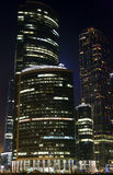 The Moscow international business centre Moscow-city Royalty Free Stock Photo