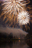 Moscow International Festival of fireworks Stock Photography
