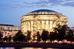 Moscow international House of music, Russia stock photo