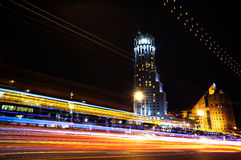 Moscow International House of Music. Time-Lapse Stock Images