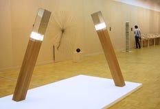 Moscow internationell ung konst Biennale Arkivbilder