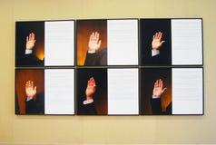 Moscow internationell ung konst Biennale Fotografering för Bildbyråer