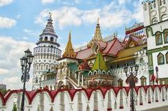 MOSCOW, IZMAILOVO, KREMLIN. Izmailovsky Kremlin in  Moscow, Russia, spring, cloudy sky Royalty Free Stock Photos