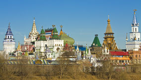 Moscow, Izmaylovskiy Kremlin. Izmyalovskiy Kremlin in region Izmaylovo - arts and crafts vernisage and famous touristic object in Moscow, Russia Royalty Free Stock Image