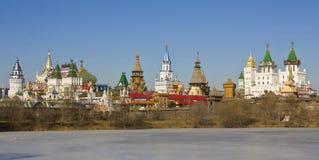 Moscow, Izmaylovskiy Kremlin. Izmyalovskiy Kremlin in region Izmaylovo - arts and crafts vernisage and famous touristic object in Moscow, Russia Stock Photography