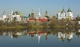 Moscow, Izmaylovskiy Kremlin. Izmaylovskiy Kremlin in region Izmaylovo - architecture ensamble of original wooden buildings, includes vernisage of art and crafts Stock Image