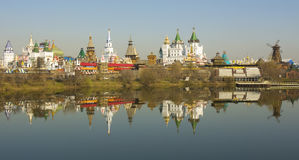 Moscow, Izmaylovskiy Kremlin. Izmaylovskiy Kremlin in region Izmaylovo - architecture ensamble of original wooden buildings, includes vernisage of art and crafts Royalty Free Stock Photography