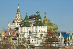 Moscow, Izmaylovskiy Kremlin. Izmaylovskiy Kremlin in region Izmaylovo - architecture ensamble of original wooden buildings, vernisage of art and crafts, famous Royalty Free Stock Images