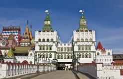 Moscow, Izmaylovskiy vernisage. Izmaylovskiy vernisage in Moscow, wooden architecture Stock Photography