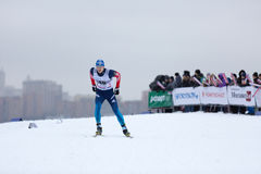 Moscow, January 18 2015: FIS Ski Cup Race Stock Image