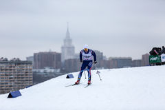 Moscow, January 18 2015: FIS Ski Cup Race Stock Photography