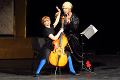 V.Yaremenko and O.Vorozhtsova play at Musical Witches of Eastwick Royalty Free Stock Photos