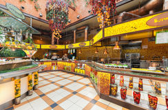MOSCOW - JULY 2014: Chain home cooking restaurant Royalty Free Stock Photos