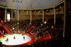 MOSCOW - JUNE 5 - arena in Moscow Nikulin circus Royalty Free Stock Photos
