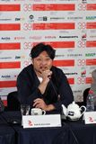 Film director Kim Bong-Han at press conference Stock Photography