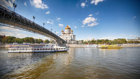 moscow Katedra Chrystus wybawiciela _ Obraz Stock