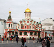 Moscow. Kazansky cathedral on the Red square Royalty Free Stock Images