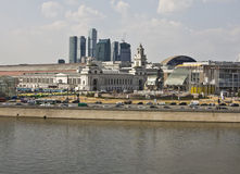 Moscow, Kievskiy railway station Stock Photos