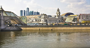 Moscow, Kievsky railway station Royalty Free Stock Image