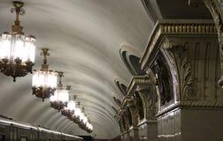 Moscow: Komsomolskaya Metro Station Royalty Free Stock Images