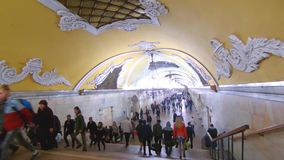 moscow Komsomolskaya tunnelbanastation stock video
