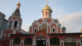 moscow Kopuła Kazan katedra na placu czerwonym jest aktywnym Ortodoksalnym kościół, budującym ku pamięci wyzwolenia Moskwa fr zdjęcia stock