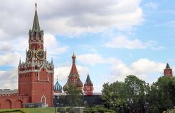 Moscow Kreml St. Basil`s Cathedral. Moscow - Kreml and St. Basil`s Cathedral stock photography