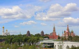 Moscow Kreml St. Basil`s Cathedral Skyline. Skyline of Moscow - Kreml and St. Basil`s Cathedral royalty free stock image